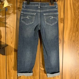 Justice Jeans Straight Rolled Bottom Size 8S